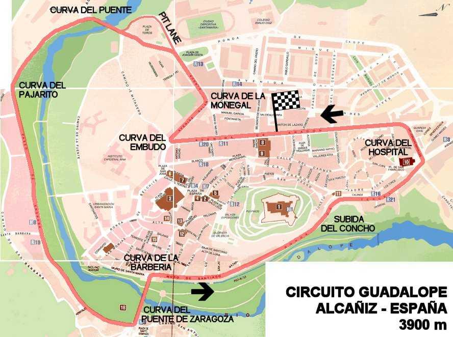 Circuito Alcañiz : Tracks alcaÑiz guadalope